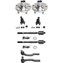 Ball Joint, Tie Rod End and Wheel Hub Kit, Front Driver and Passenger Side
