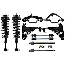 Replacement Control Arm, Sway Bar Link, Shock Absorber and Strut Assembly and Tie Rod End Kit