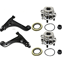 Control Arm and Wheel Hub Kit Front Driver and Passenger Side