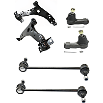 Control Arm, Tie Rod End and Sway Bar Link Front Driver and Passenger Side
