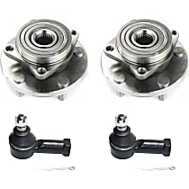 Front, Driver and Passenger Side Wheel Hub Bearing included - Set of 4