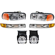 Fog Light - Driver and Passenger Side, with Right and Left Headlights and Parking Lights