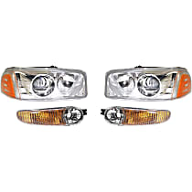 Headlights - Driver and Passenger Side, Kit, For Denali, With Bulb(s), With Parking Lights
