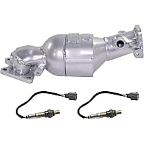 Front Firewall Side Catalytic Converter For SOHC V6 Eng Models with 46-State Legal (Cannot ship to CA, CO, NY or ME) with 2 Oxygen Sensor