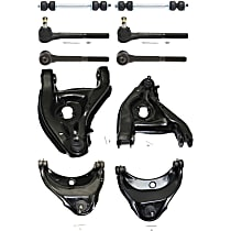 Control Arm - Front, Driver and Passenger Side, Upper and Lower, with Sway Bar Links and Inner and Outer Tie Rod Ends
