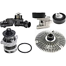 Thermostat, Fan Clutch, Water Pump, Accessory Belt Tensioner and Accessory Belt Tension Pulley Kit