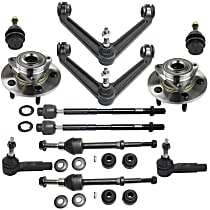 Control Arm, Wheel Hub, Tie Rod End, Ball Joint and Sway Bar Link Kit