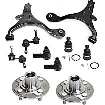 Ball Joint, Control Arm, Sway Bar Link, Tie Rod End and Wheel Hub Kit