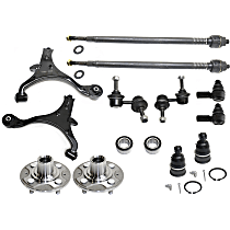 Wheel Bearing, Control Arm, Tie Rod End, Sway Bar Link, Ball Joint and Wheel Hub Kit