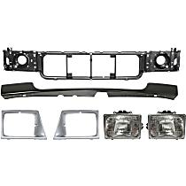 Replacement Bumper Filler, Header Panel, Headlight Door and Headlight Kit