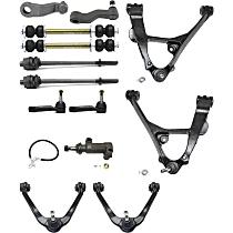 Pitman Arm, Control Arm, Tie Rod End, Idler Arm, Idler Arm Bracket and Sway Bar Link Kit