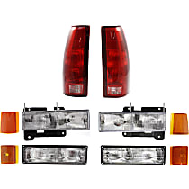Reflector - Front, Driver and Passenger Side, Upper, Direct Fit