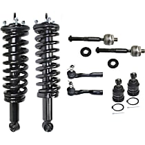 Replacement Shock Absorber and Strut Assembly, Tie Rod End and Ball Joint Kit