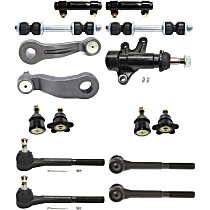 Pitman Arm - with Idler Arm, Idler Arm Bracket, Front Sway Bar Links, Front Upper and Lower Ball Joints, Front Inner and Outer Tie Rod Ends, and Tie Rod Adjusting Sleeves