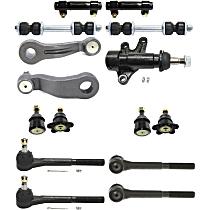 Idler Arm Bracket, Tie Rod End, Ball Joint, Idler Arm, Pitman Arm, Sway Bar Link and Tie Rod Adjusting Sleeve Kit