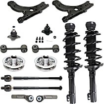 Control Arm, Shock Absorber and Strut Assembly, Tie Rod End, Ball Joint, Wheel Hub and Sway Bar Link Kit