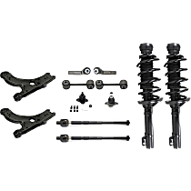 Replacement Shock Absorber and Strut Assembly, Control Arm, Tie Rod End, Ball Joint and Sway Bar Link Kit