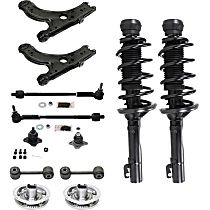 Replacement Shock Absorber and Strut Assembly, Control Arm, Tie Rod Assembly, Ball Joint, Wheel Hub and Sway Bar Link Kit