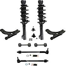 Replacement Ball Joint, Shock Absorber and Strut Assembly, Control Arm, Tie Rod Assembly and Sway Bar Link Kit