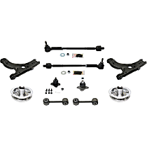 Control Arm, Tie Rod Assembly, Ball Joint, Wheel Hub and Sway Bar Link Kit