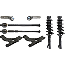 Replacement Shock Absorber and Strut Assembly, Control Arm and Tie Rod End Kit