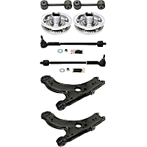 Control Arm, Tie Rod Assembly, Wheel Hub and Sway Bar Link Kit