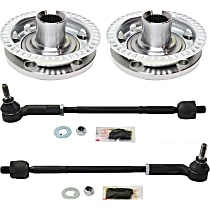 Replacement Tie Rod Assembly and Wheel Hub Kit