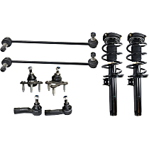 Shock Absorber and Strut Assembly, Tie Rod End, Ball Joint and Sway Bar Link Kit