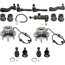 Replacement Control Arm Bushing, Ball Joint, Tie Rod End, Idler Arm, Pitman Arm, Wheel Hub and Idler Arm Bracket Kit
