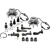 Idler Arm, Idler Arm Bracket, Pitman Arm, Tie Rod End, Wheel Hub, Ball Joint and Control Arm Bushing Kit