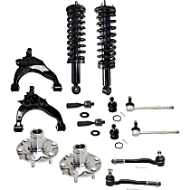 Ball Joint, Control Arm, Loaded Strut, Sway Bar Link, Wheel Hub and Tie Rod End Kit