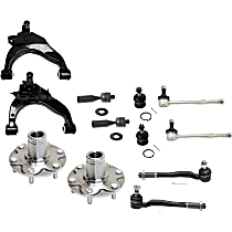 Ball Joint, Control Arm, Sway Bar Link, Wheel Hub and Tie Rod End Kit