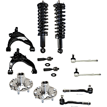 Control Arm, Loaded Strut, Sway Bar Link, Wheel Hub and Tie Rod End Kit
