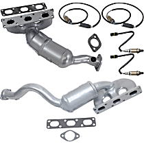 Catalytic Converter and Oxygen Sensor Kit Front and Rear California Emissions 47-State Legal (Cannot ship to CA, NY or ME)