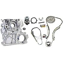 Timing Cover, Timing Chain Kit and Water Pump