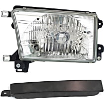 Headlight - Driver Side, Kit, With Bulb(s), With Left Grille