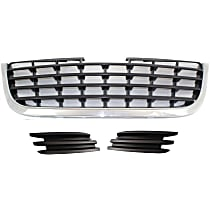 Grille Assembly - Chrome Shell with Painted Black Insert, with Right and Left Fog Light Covers and Right and Left Fog Light Covers