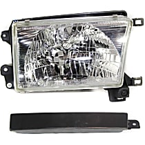 Headlight - Passenger Side, Kit, With Bulb(s), With Right Grille