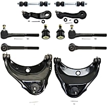 Replacement Pitman Arm, Control Arm, Tie Rod End, Ball Joint, Idler Arm and Sway Bar Link Kit