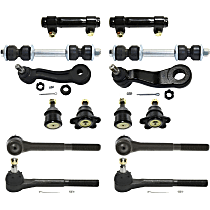 Pitman Arm - with Idler Arm, Front Sway Bar Links, Front Upper and Lower Ball Joints, Front Inner and Outer Tie Rod Ends, and Tie Rod Adjusting Sleeves