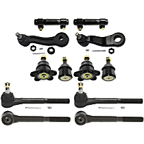 Pitman Arm - with Idler Arm, Front Upper and Lower Ball Joints, Front Inner and Outer Tie Rod Ends, and Tie Rod Adjusting Sleeves