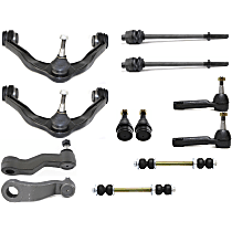 Control Arm - Front, Driver and Passenger Side, Upper, RWD/4WD, with Sway Bar Links, Idler Arm, Pitman Arm, Lower Ball Joints, and Inner and Outer Tie Rod Ends