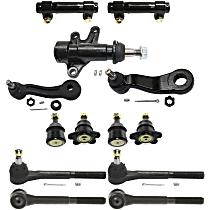 Idler Arm Bracket, Tie Rod End, Ball Joint, Idler Arm, Pitman Arm and Tie Rod Adjusting Sleeve Kit
