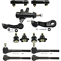 Pitman Arm - with Idler Arm, Idler Arm Bracket, Front Upper and Lower Ball Joints, Front Inner and Outer Tie Rod Ends, and Tie Rod Adjusting Sleeves