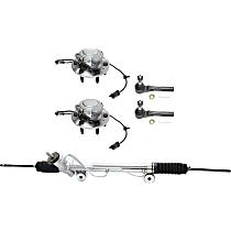 Replacement Steering Rack, Tie Rod End and Wheel Hub Kit