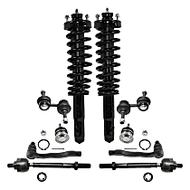 Replacement Ball Joint, Shock Absorber and Strut Assembly, Tie Rod End and Sway Bar Link Kit