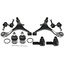 Replacement Control Arm, Sway Bar Link, Tie Rod End and Ball Joint Kit