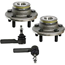 Replacement Wheel Hub and Tie Rod End Kit