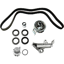 Replacement T-Belt Tension Adjuster, Water Pump and Timing Belt Kit
