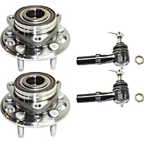 Wheel Hub and Bearing - Front, Driver and Passenger Side, AWD/FWD, with Front Outer Tie Rod Ends